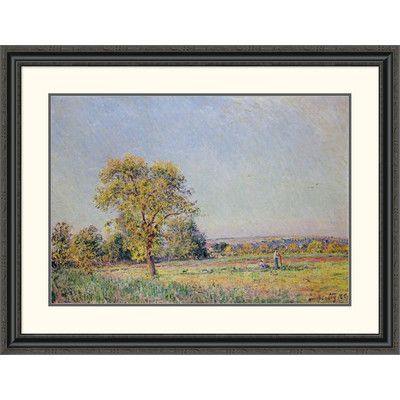 Global Gallery 'A Summer's Day' by Alfred Sisley Framed Painting Print Size: