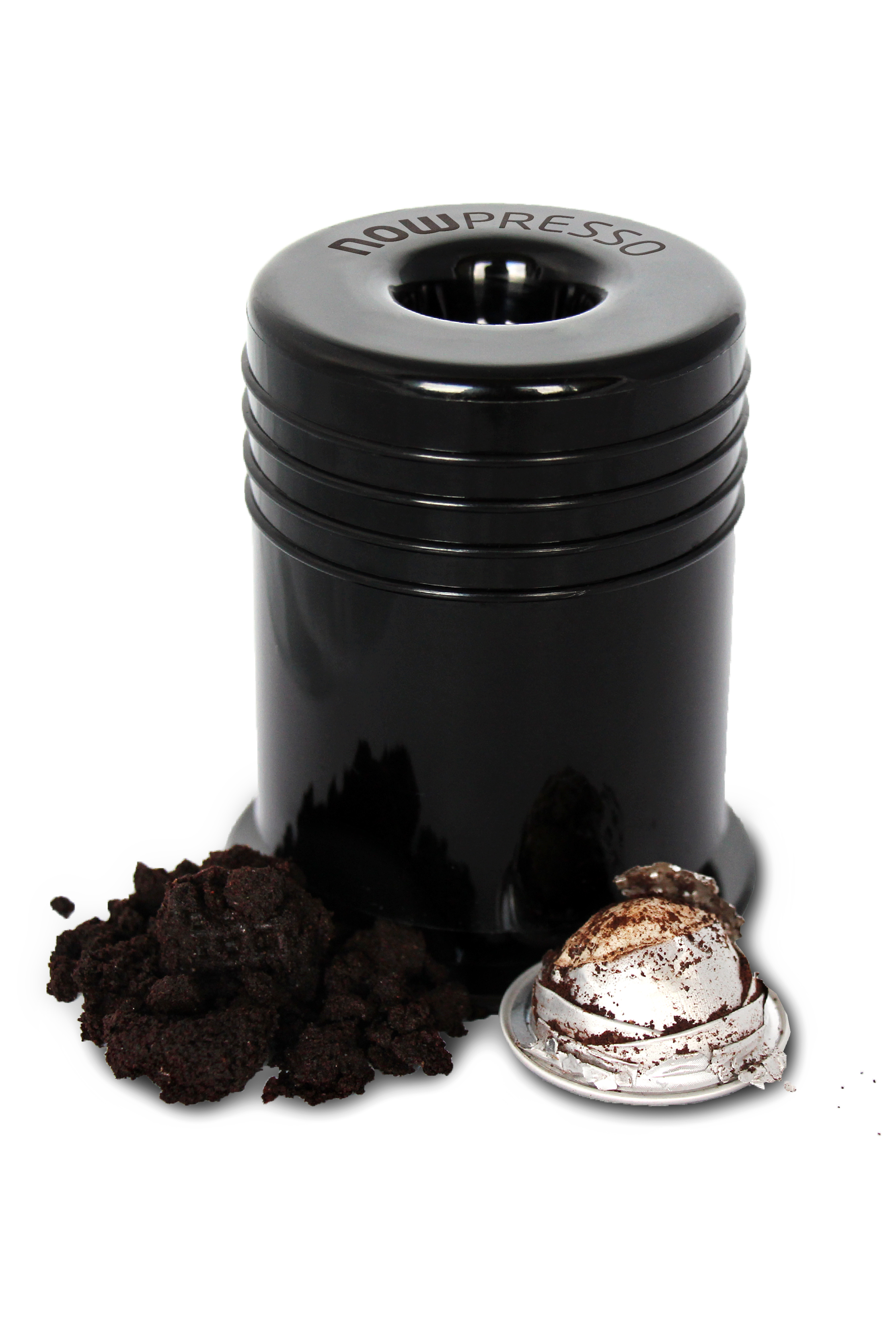 How To Recycle Nespresso Coffee Capsules The Nowpresso Ecopress Is Your Easy Personal Nes Nespresso Coffee Capsules Portable Espresso Machine Coffee Capsules