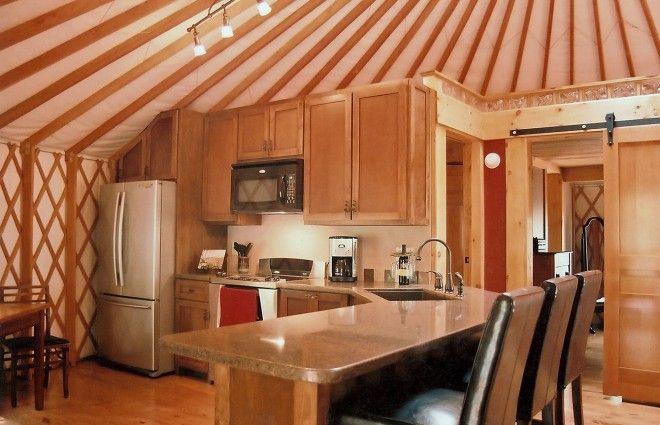 Modern Yurt Kitchen Pacific Yurts Yurt Interiors