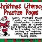This packet includes several literacy activities perfect for a kindergarten classroom around Christmas!!There are twenty printable pages focusing on important literacy skills. $