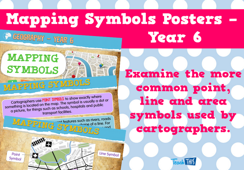 Mapping Symbols Posters - year 6 | Geography | Pinterest | Symbols ...