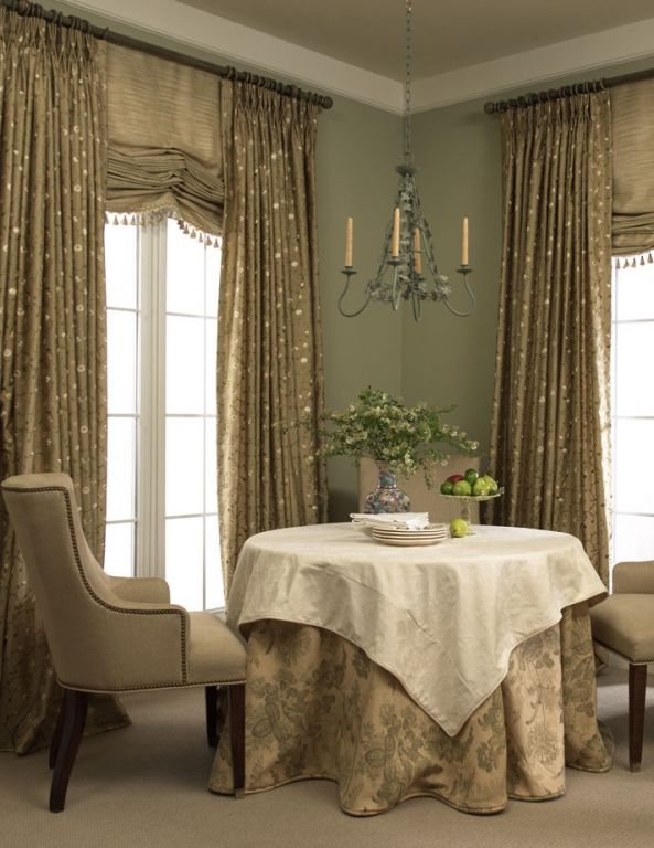 French Pleat Drapery With Roman Shade Under Treatment