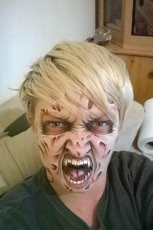This Care Worker\u0027s Face Paintings Are Incredible And Truly - face painting halloween makeup ideas
