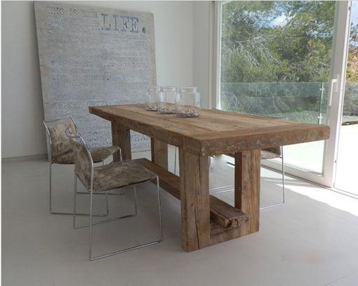 Mesas de madera maciza 3 mesas pinterest mesa de for Mesas rusticas comedor