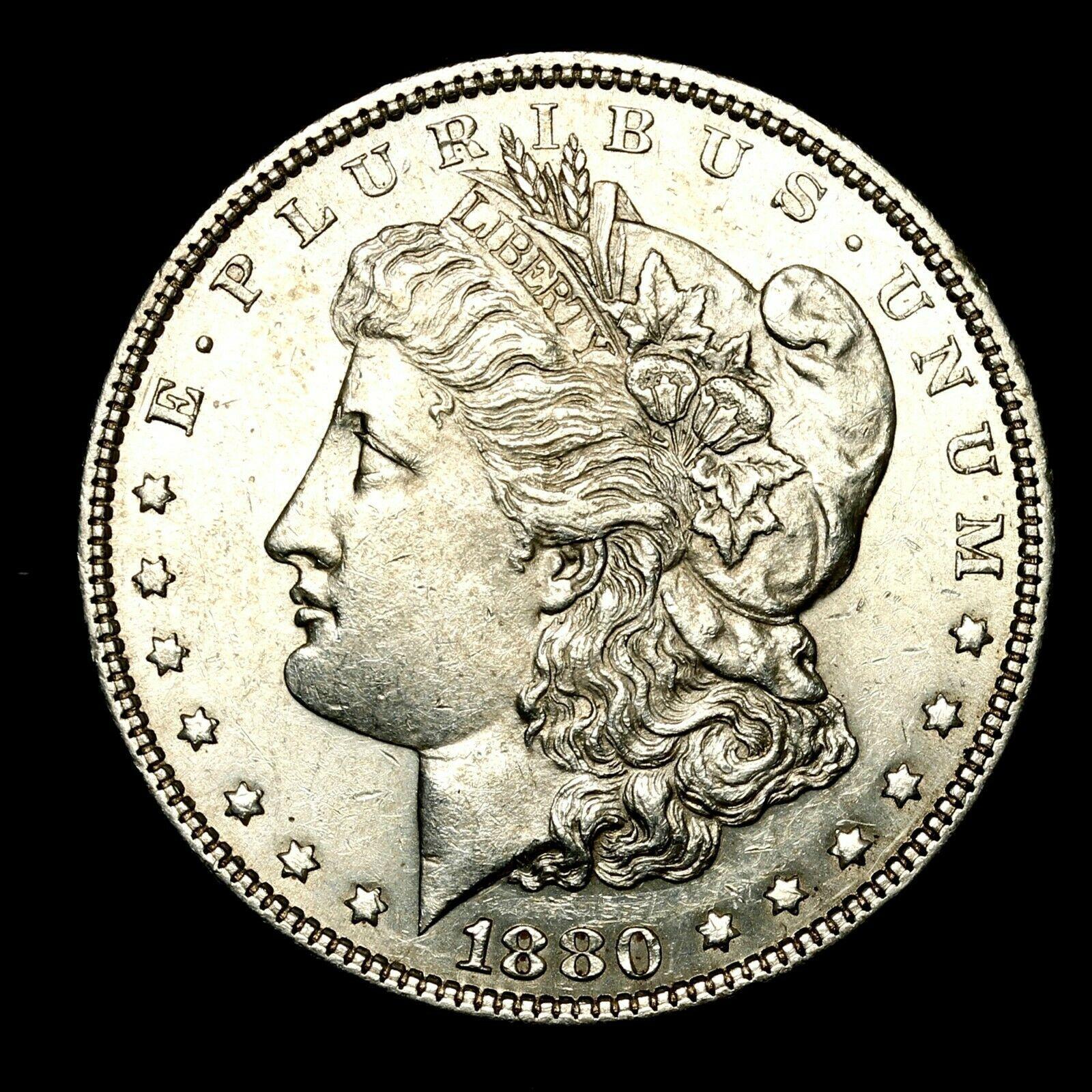 1880 O About Uncirculated Au Silver Morgan Dollar Rare Us Old Coin D70 Coins Rare Ideas Of Coins Rare Coins Rare Old Coins Antique Coins Morgan Dollars