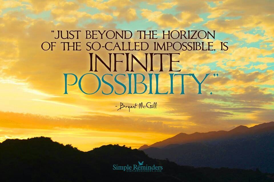 Infinite possibility is the Divine power!