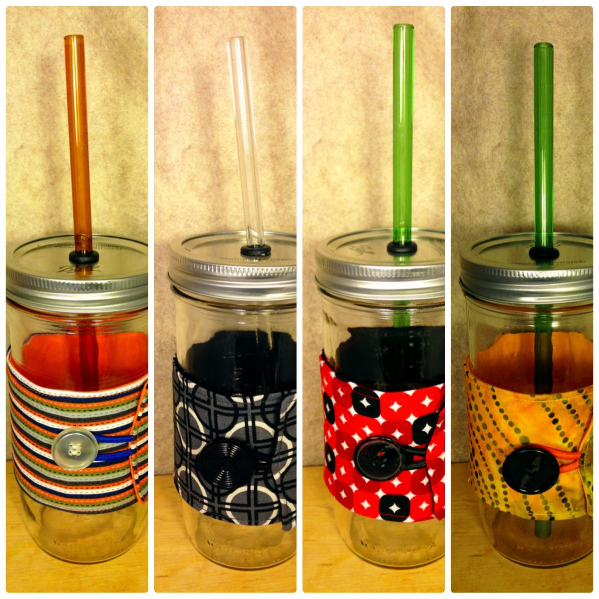 Tall Mason Jars With Straw And Cozy Love These Etsy Easy Christmas Gifts Mason Jar With Straw Simple Christmas