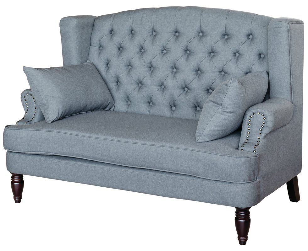 2Sitzer Sofa 2 sitzer sofa, Grauer stoff, Sofa