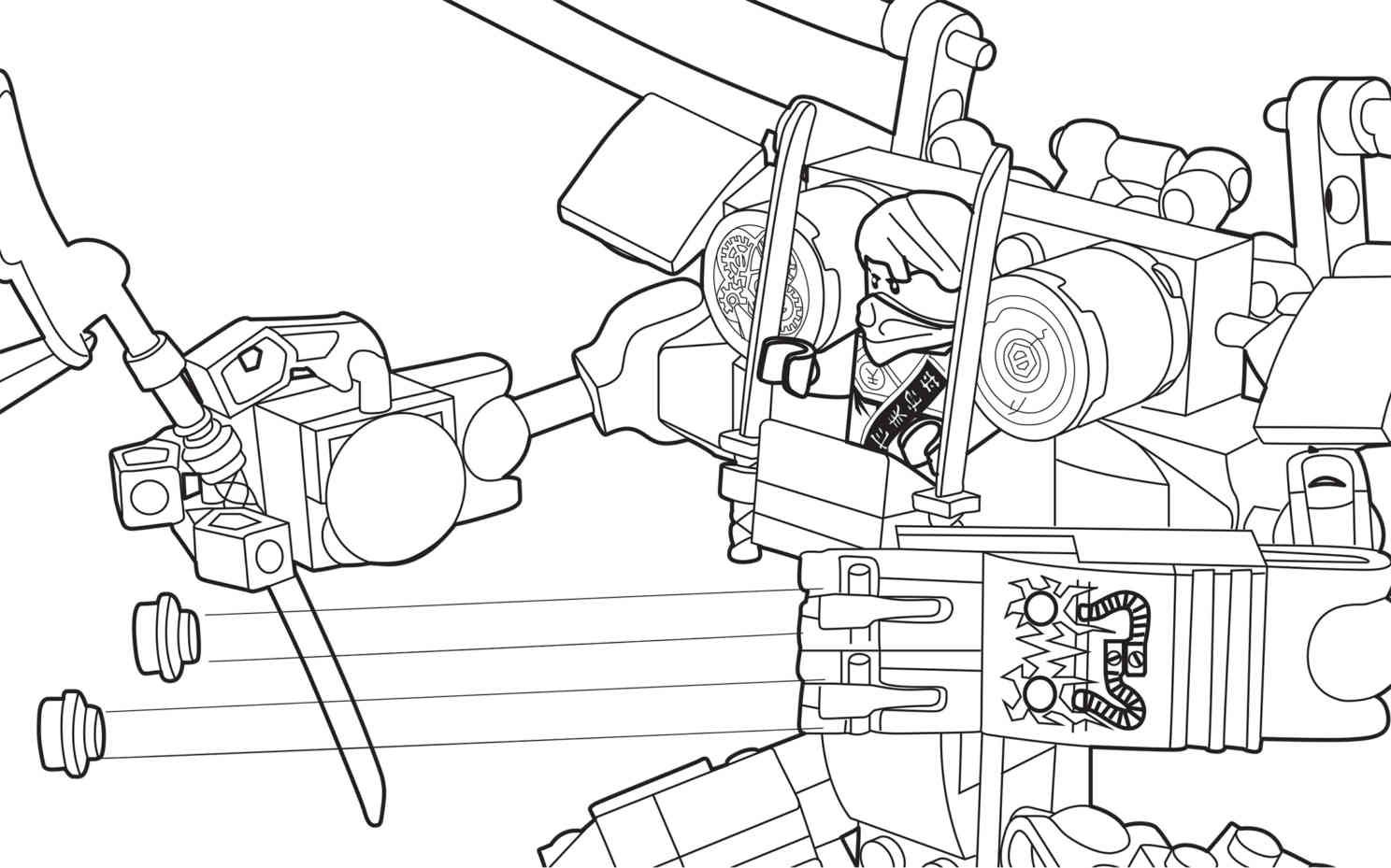lego ninjago coloring sheet 70754 - Ninjago Pictures To Color