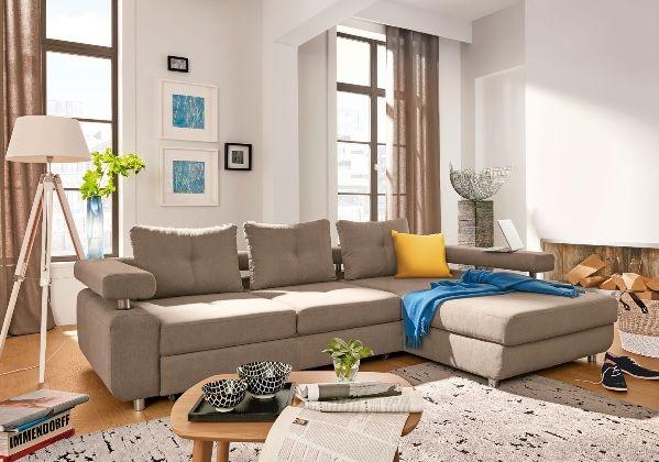 Rundecke Stoffbezug Hellgrau #wohnen #Wohnzimmer #Wohnzimmerideen - wohnzimmer beige petrol