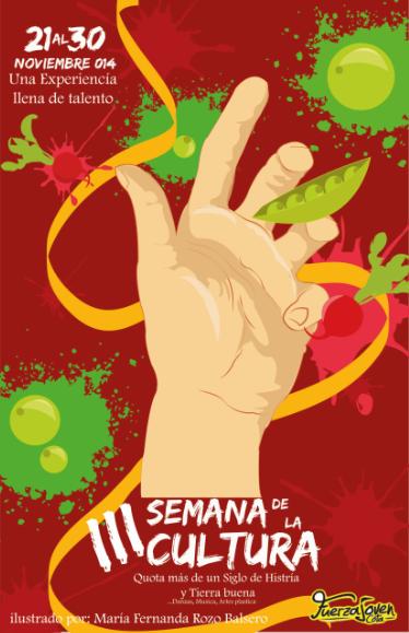 cartel ilustrado, promocionando un evento  Ilustración: Mafe Rozo B Todos los derechos reservados © Copyright