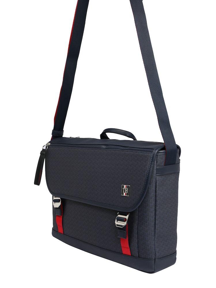 Tommy Hilfiger Tasche Coated Canvas Messenger Herren Navy Grosse One Size In 2020 Tommy Hilfiger Taschen