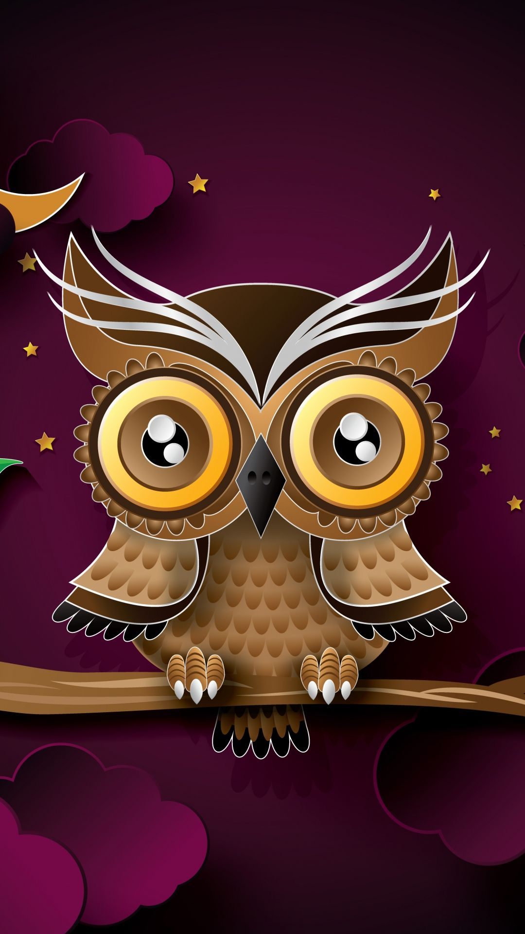 Owl Bird Art Branch iPhone 6 wallpaper Owl wallpaper