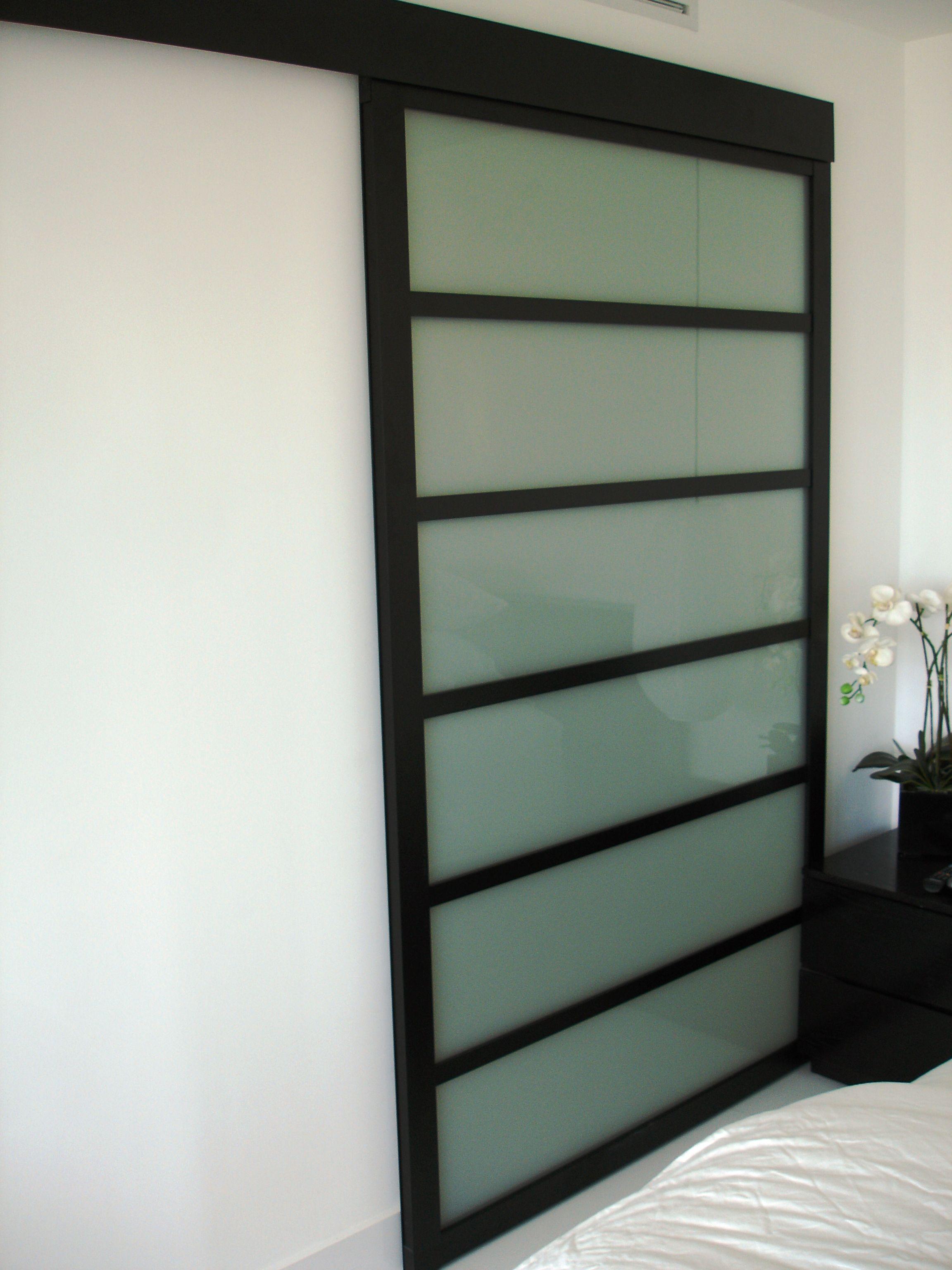 Shoji Inspired Glass Wall Slide For Master Bed And Bath Sliding Glass Door Floating Glass Shelves Glass Shelves Decor