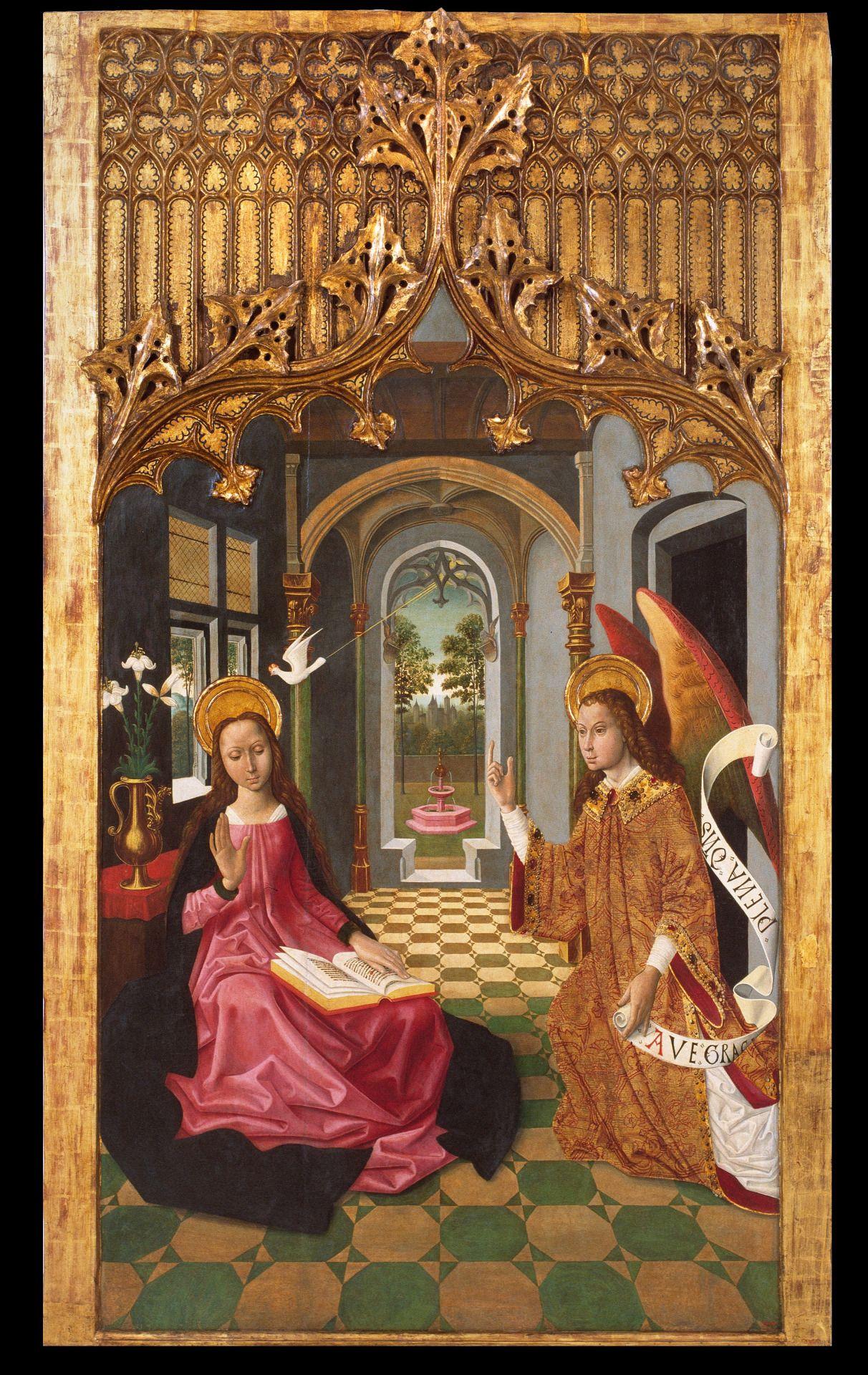Master of La Seu d'Urgell - The Annunciation. 1495