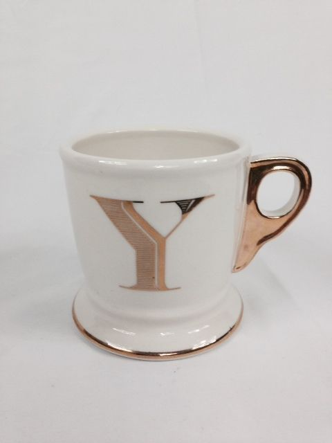 anthropologie limited edition gold monogram mug letter y anthropologie