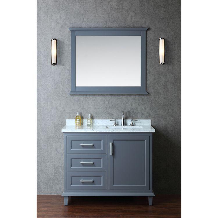 Nantucket 42 Inch Single Sink Bathroom Vanity Set By Ariel