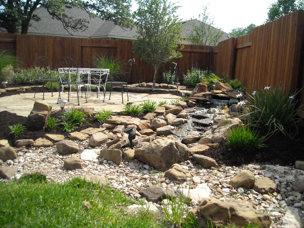 Rock landscaping ideas gardens landscaping landscape for Large front garden ideas