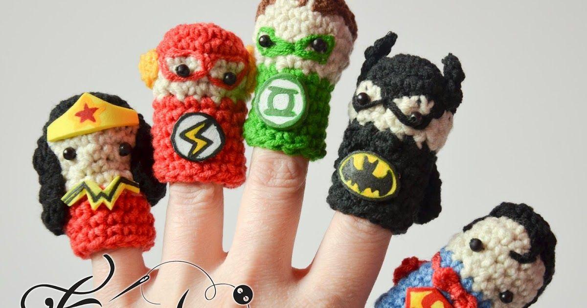 fb5272b8751 Set of superhero themed cute finger puppets. Superman puppet Batman ...