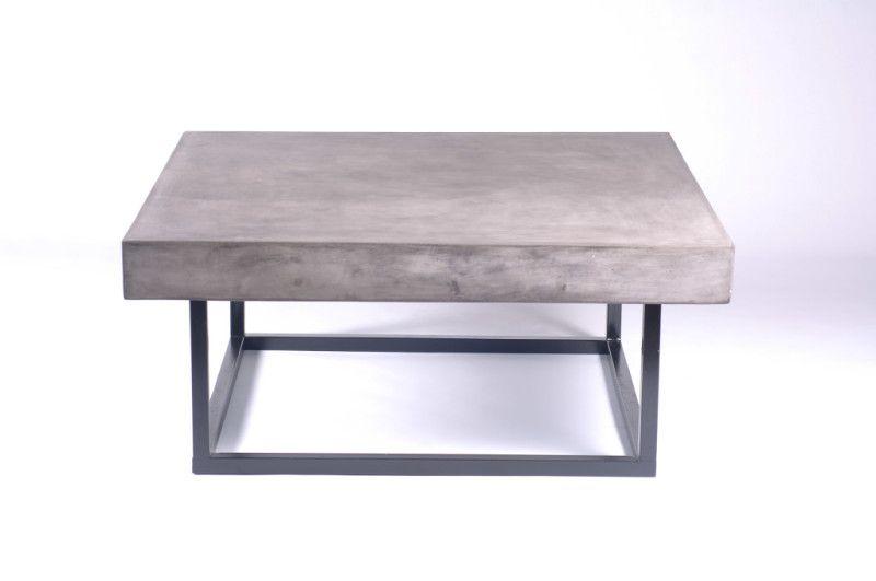 Miami Square Coffee Table Urbia Imports Concrete Coffee Table Coffee Table Square Solid Coffee Table