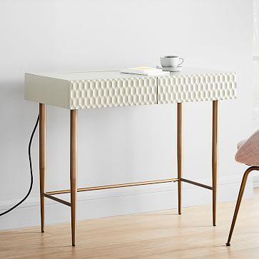 West Elm Audrey Charging Mini Desk Mini Desk Oversized Furniture Home Office Design
