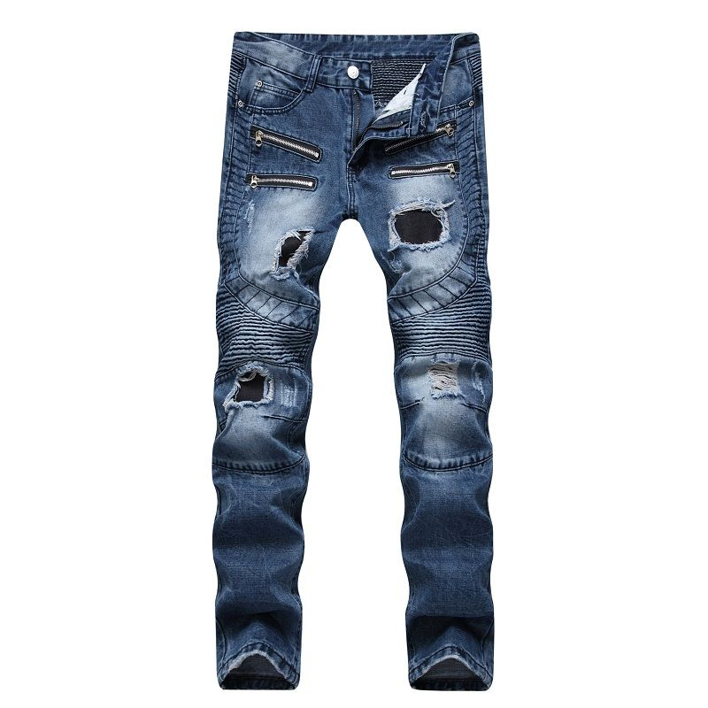 Cheap hole jeans pants, Buy Quality jeans pants directly from China jeans  pant brands Suppliers: 2017 Men's Fashion Brand Designer Ripped Biker Jeans  Men ...