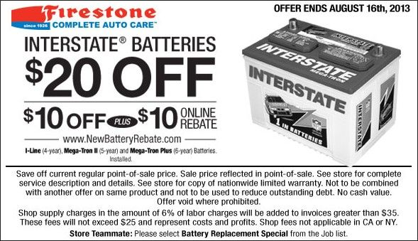 firestone coupon for battery