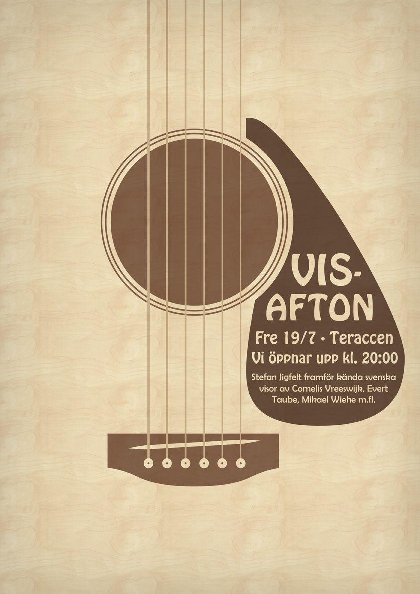 Portfolio Therese Jigfelt Guitar Posters Postcards Inspiration Poster Design