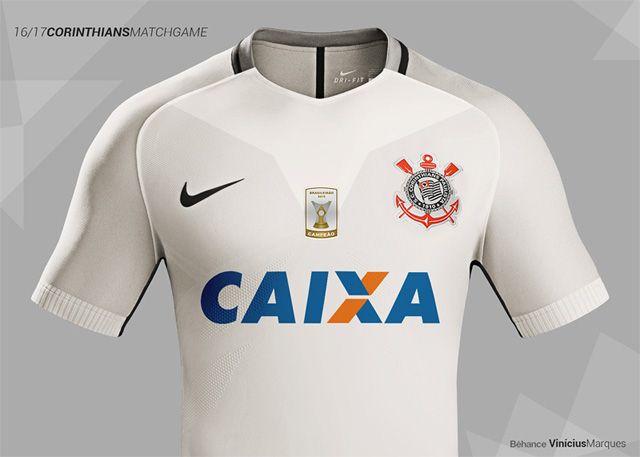 Leitor MDF  Camisa titular do Corinthians 2016-2017 Nike (Vinícius Marques 07e1040a36ad1