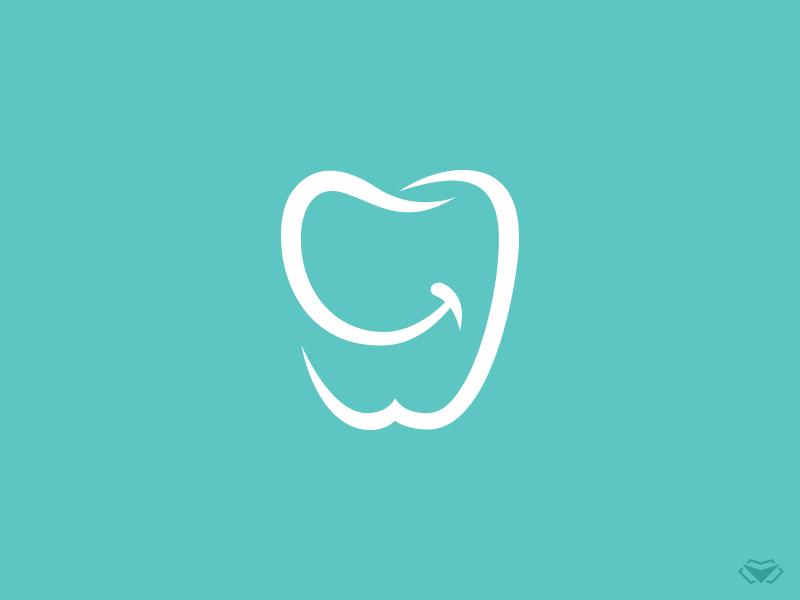 Smiling Tooth Logo Dental clinic logo, Teeth logo