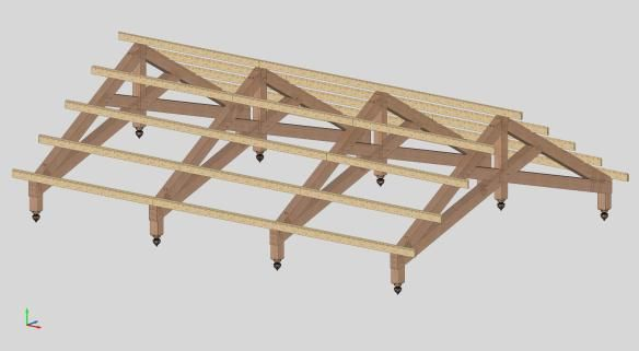 Scissor truss design with purlins houses pinterest for Scissor truss design