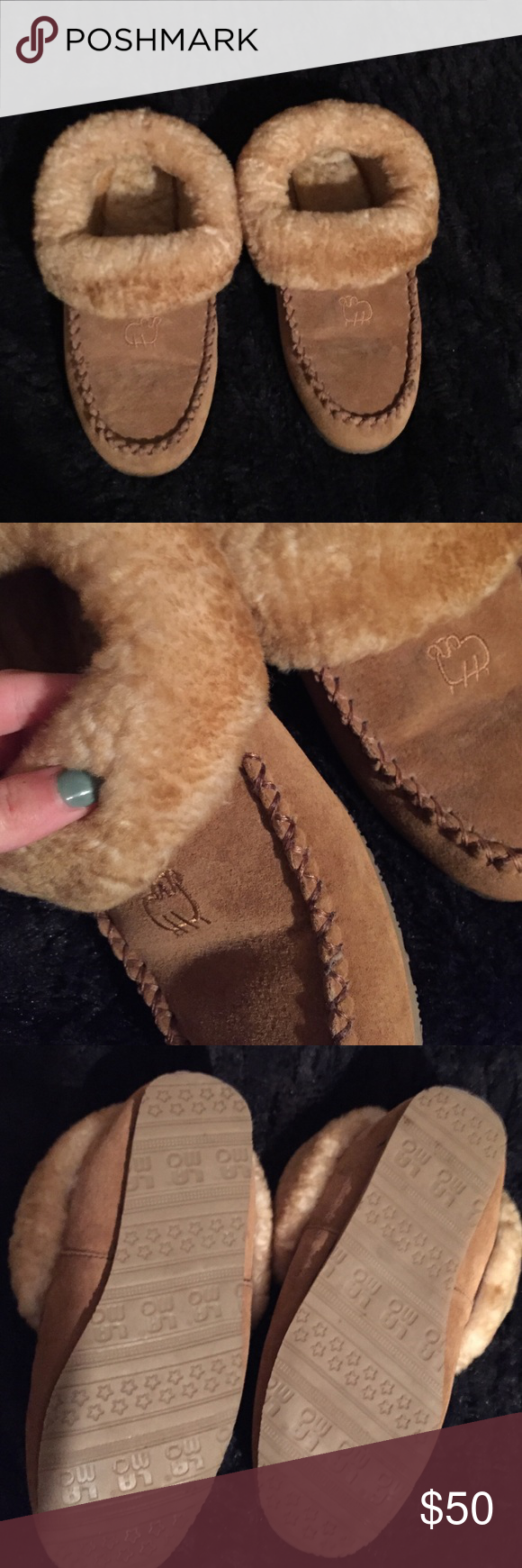 Slippers practically new Lama slippers, worn around the house once, very cute! Just don't wear slippers! Like ugh slipper! UGG Shoes Slippers