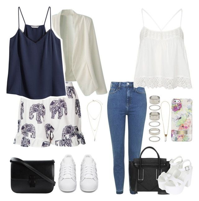 """""""~My problem, it's my problem, That I never am happy."""" by bex-payne ❤ liked on Polyvore featuring Topshop, adidas Originals, Missguided, H&M, Forever 21, Ted Baker and Chloé"""