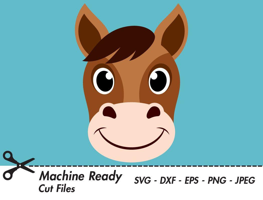 15+ Cute Horse Head Clipart