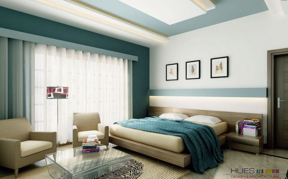 Bedroom Interior Design With Maximize Wall Features White Teal Bedroom Platform Bed With White Curtain Glass