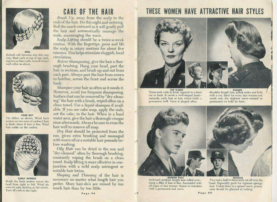 Wac Hairstyles Vintage Hairstyles 1940s Hairstyles Nurse Hairstyles