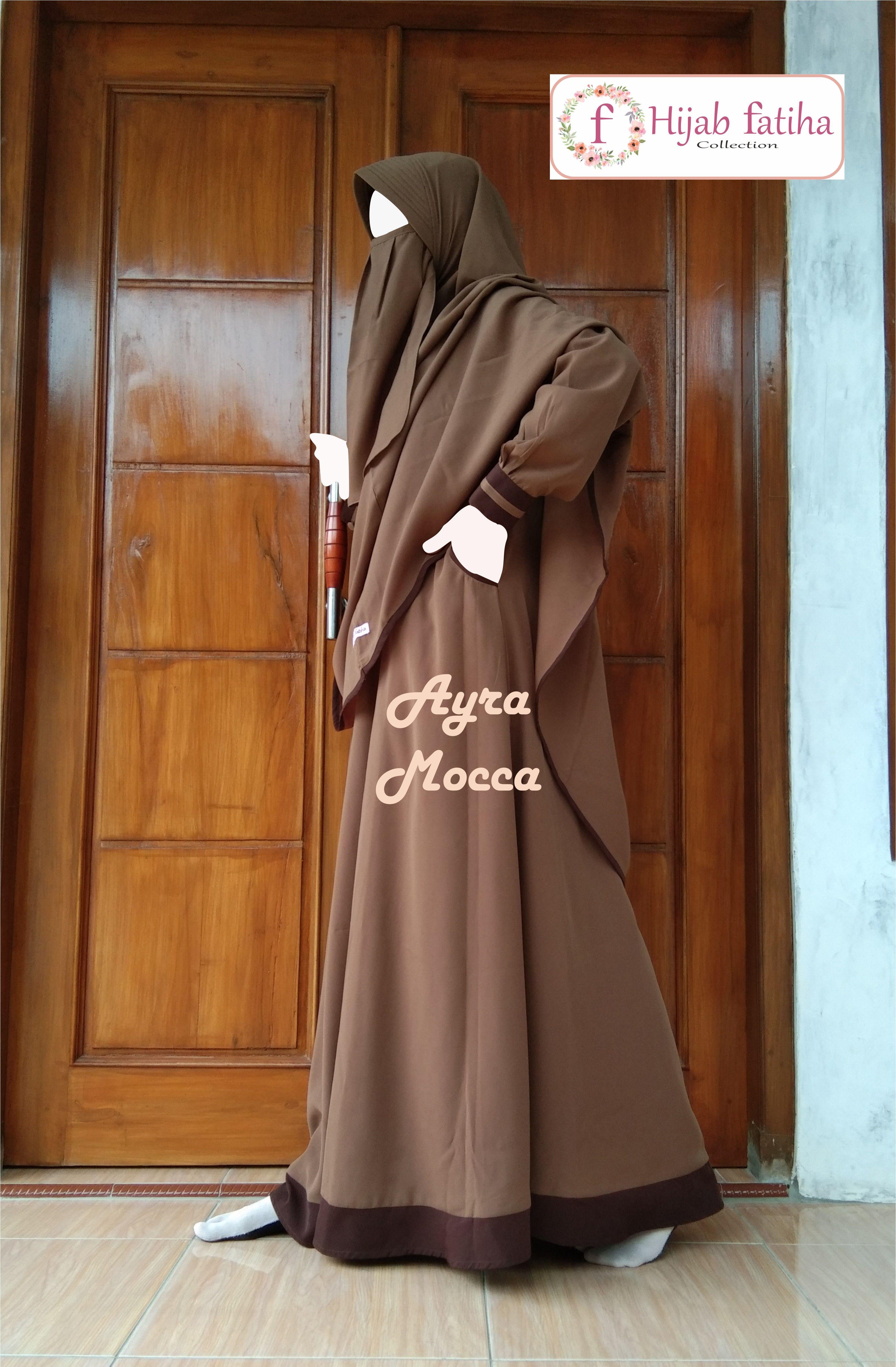 Gamis Terbaru, Gamis Wolfis, Gamis Modern Hijab Fatiha #jilbab