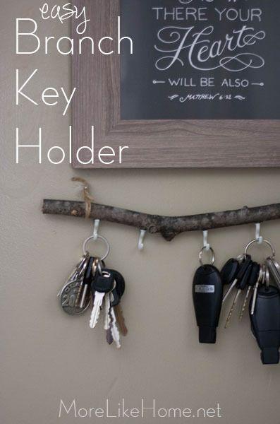 Easy Diy Branch Key Holder Key Holder Diy Diy Holder Easy Diy