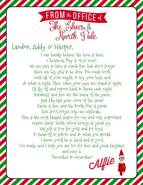 Elf On The Shelf Welcome Letter With Free Printable Elf On Shelf Letter Elf On Shelf Printables Elf Letters