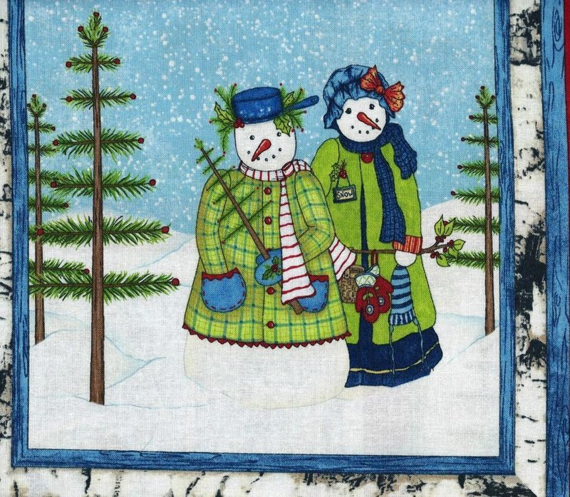Christmas Quilt Fabric Panel Cool Characters Snowmen Christmas ... : christmas quilting panels - Adamdwight.com