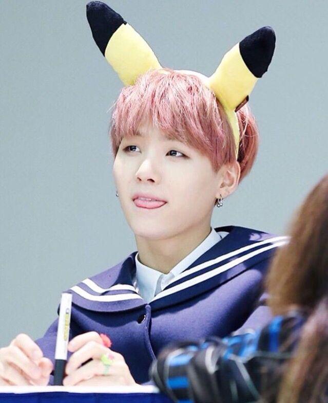 Cute Korean Wallpapers Desktop Pikachu Suga Pink Hair Bts Suga Min Yoongi Bts Bts