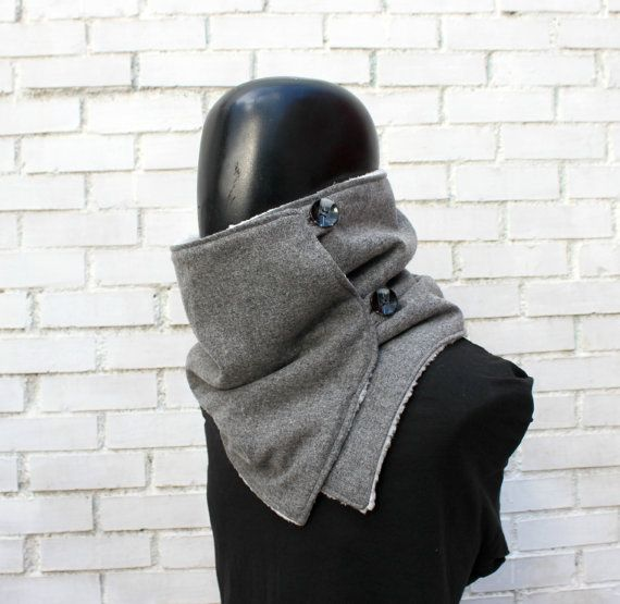 Mens cowl scarf. Unisex scarf. Men and women cowl.flecked