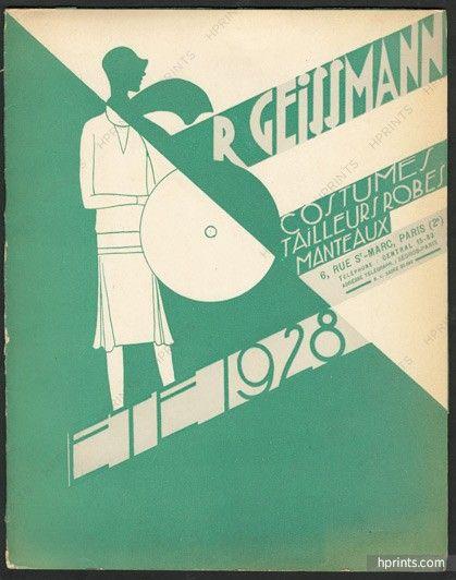 R. Geissmann (Couture) 1928 Catalogue