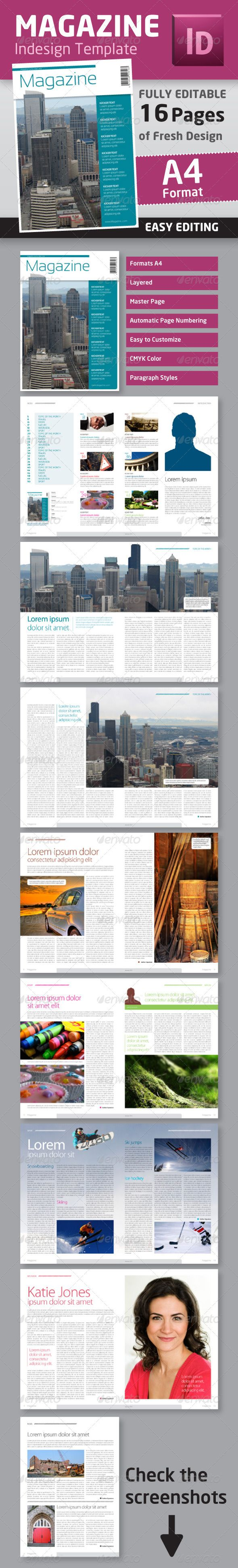 Indesign Magazine Template In A Format  Indesign Magazine