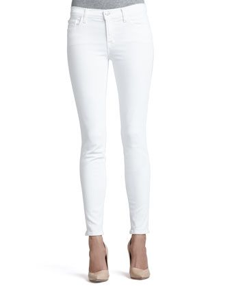 811 Blanc Mid-Rise Skinny Jeans by J Brand Jeans at Neiman Marcus.