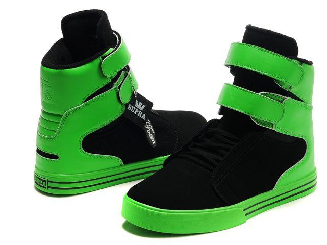 f2af9b02a790 Cheap Supra TK Society X-Games High Tops Shoe Black Neon Green On Sale