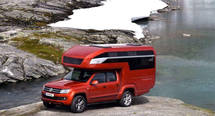 vw amarok wohnkabine kora glamping mit dem pickup vw amarok vw and adventure campers