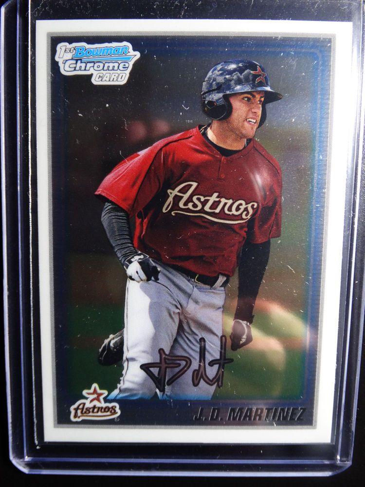 2010 Bowman Chrome Bcp165 Jd Martinez Houston Astros