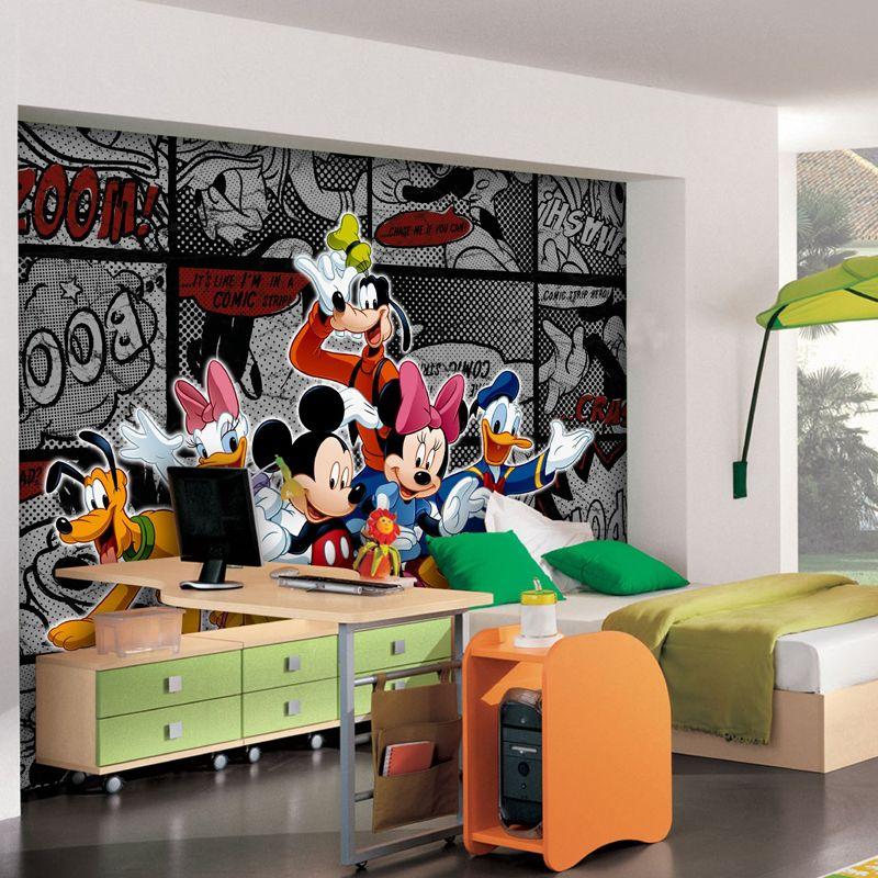 Papier Peint Xxl Mickey Bd Noir Disney Meuble Et Deco Enfant