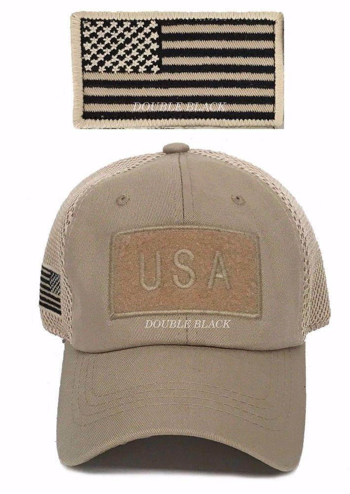USA American Flag Tactical Operator Hat Military Mesh Trucker Baseball Cap  Khaki  Clover  BaseballCap 9da199eed0c